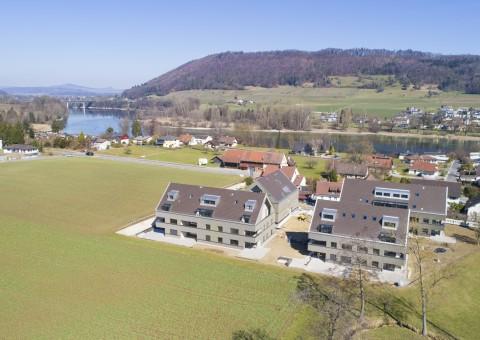 "Aktueller Baufortschritt beim Neubauprojekt ""am Mülibach"" in 8259 Wagenhausen (TG)"