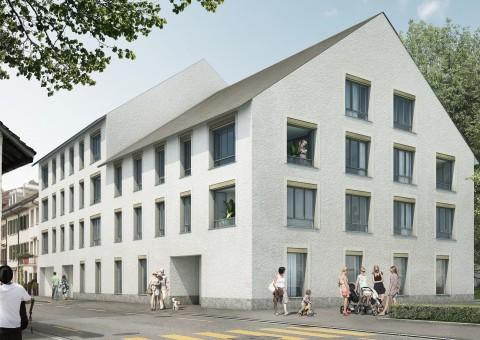 """Willkommen in der Wohnüberbauung """"Salaia"""" Schaffhausen. Verkauf von 11 Eigentumswohnungen mit 2.5, 3.5 und 5.5 Zimmern an unmittelbarer Rheinlage von Schaffhausen."""
