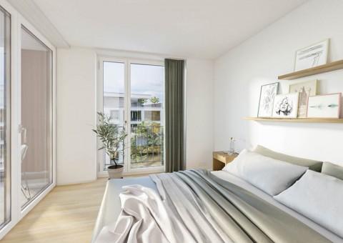 Vermarktungsstart der Wohnüberbauung «Gloggeguet» in 8207 Schaffhausen-Herblingen. Verkauf von 71 Wohnungen mit 2.5 - 5.5 Zimmern.