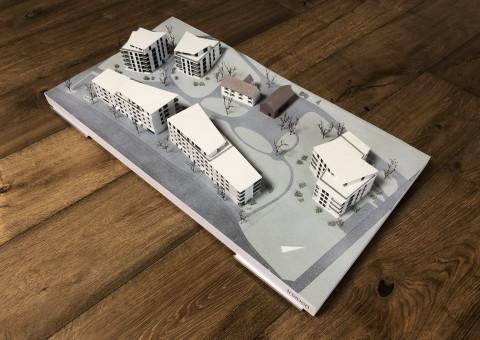 """Unser massstabgetreues Modell der Wohnüberbauung """"Gloggeguet"""" in 8207 Schaffhausen ist fertiggestellt"""